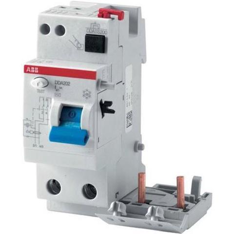 Блок дифференциального тока 2-полюсный 63 A, тип AC, 100 mA DDA202 AC-63/0,1. ABB. 2CSB202001R2630