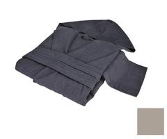 Элитный халат хлопковый Meyzer дымчатый от Hamam