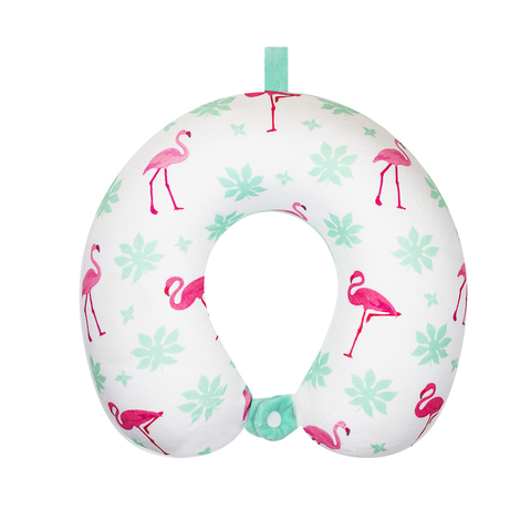 Подушка дорожная Flamingos 3