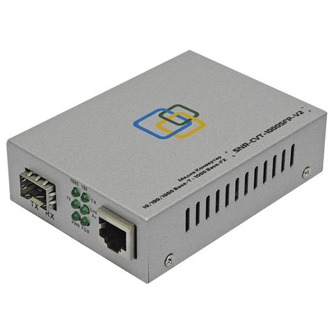 Медиаконвертер SNR-CVT-1000SFP-POE