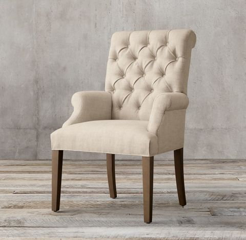 Bennett Roll-Back Fabric Armchair