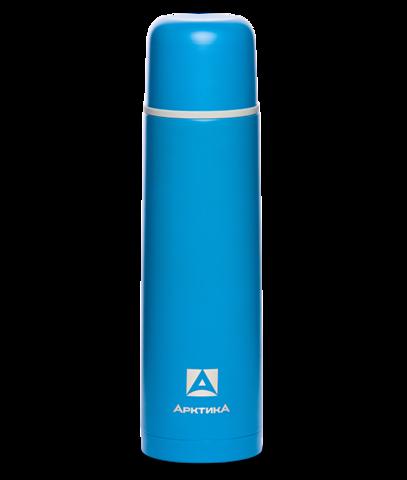 Термос Арктика (1 литр) с узким горлом, пластиковый корпус, синий