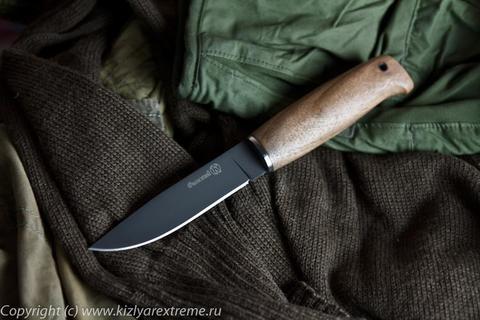 Туристический нож Финский z90 Черный Орех
