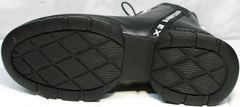 Женские ботинки на низком ходу зимние Ripka 3481 Black-White.