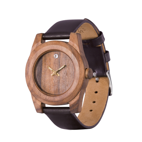 Часы из дерева AA Wooden Watches Леди Кристал Палисандр