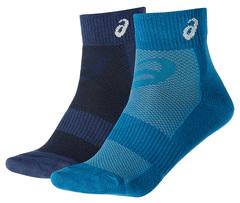 Беговые носки Asics 2ppk Quarter Sock унисекс 132072 8052 синие
