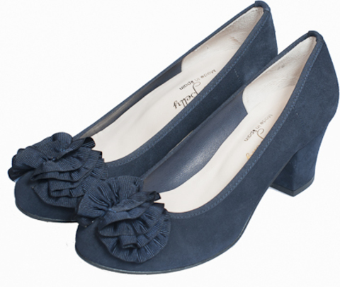 JASALLA* Туфли женские, замша, синий  LUISA BELLY