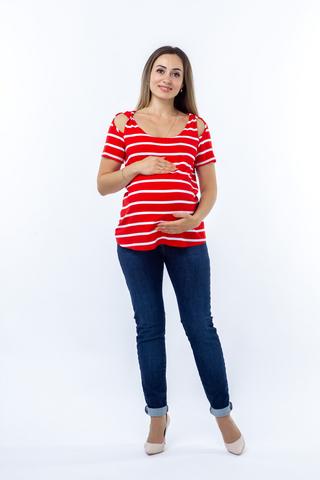 Блузка для беременных 08612 красный