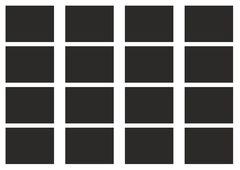 Набор наклеек 4,5*6 см прямоугольные, черные  (2 листа)