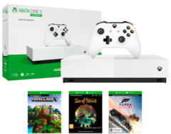 Xbox One S 1ТБ All Digital (NJP-00034) + 3 игры + Xbox Live Gold