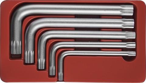 H15M105S Набор ключей торцевых SPLINE М5-М12, 5 предметов