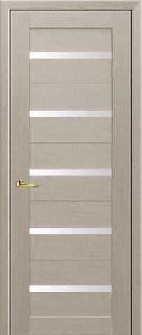 Дверь Визаж Плазма, стекло белое, цвет капучино, остекленная