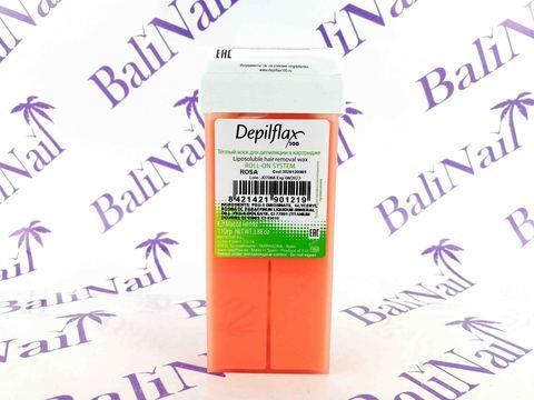 Воск для депиляции в картридже Depilflax, 110 гр. - Розовый-сливочный