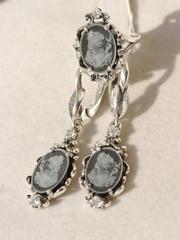 Камея малая (кольцо + серьги из серебра)