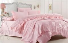 Набор КПБ с покрывалом Gelin Home HANZADE (розовый) евро