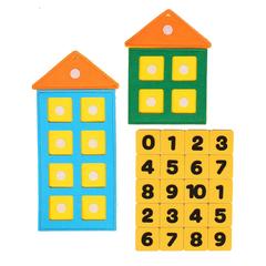 Числовые домики из фетра, Smile Decor