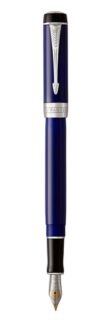 Перьевая ручка Parker Duofold Classic International, Blue and Black CT, перо: F123