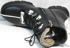 Черные зимние ботинки женские Ripka 3481 Black-White.