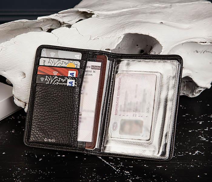 BC217-4 Кожаная обложка для паспорта, карт и документов «Onyx» фото 08