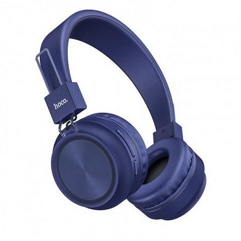 Наушники Bluetooth HOCO W25 Promise (microSD/AUX) (BT5.0, 12H) blue