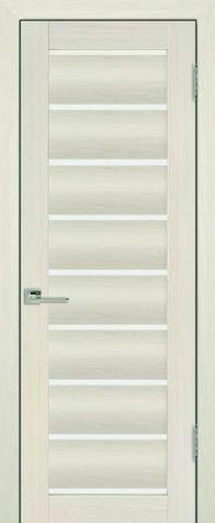 Дверь Визаж Ника, стекло белое, цвет ясень белый, остекленная