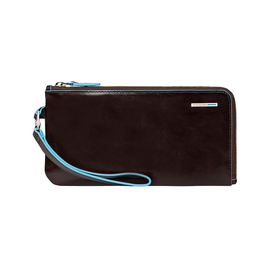 Мультипортмоне Piquadro Blue Square, цвет коричневый, 22,5х11,5х1,5 см (AC2648B2/MO)