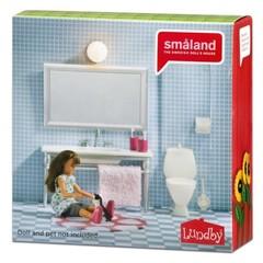 Мебель для домика Смоланд Ванная с 1 раковиной, Lundby