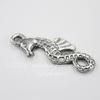 """Подвеска """"Морской конек"""" (цвет - античное серебро) 26х10 мм"""
