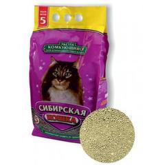 Наполнитель для длинношерстных кошек, Сибирская Кошка, комкующийся, Экстра 5л