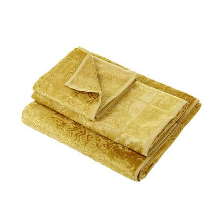 Набор полотенец 2 шт Roberto Cavalli Logo Gold золотой