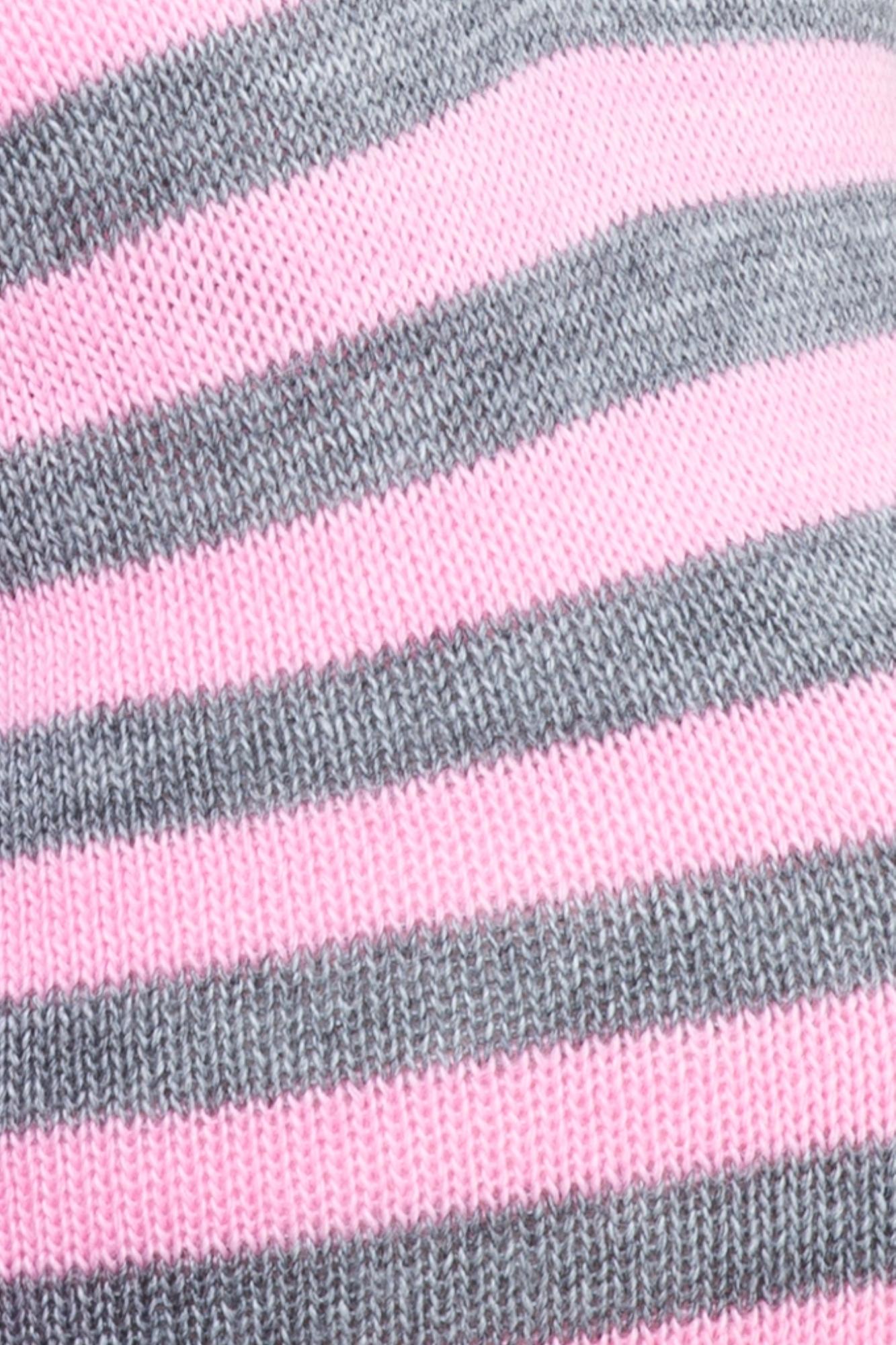 Туника 09066 розовый-серый