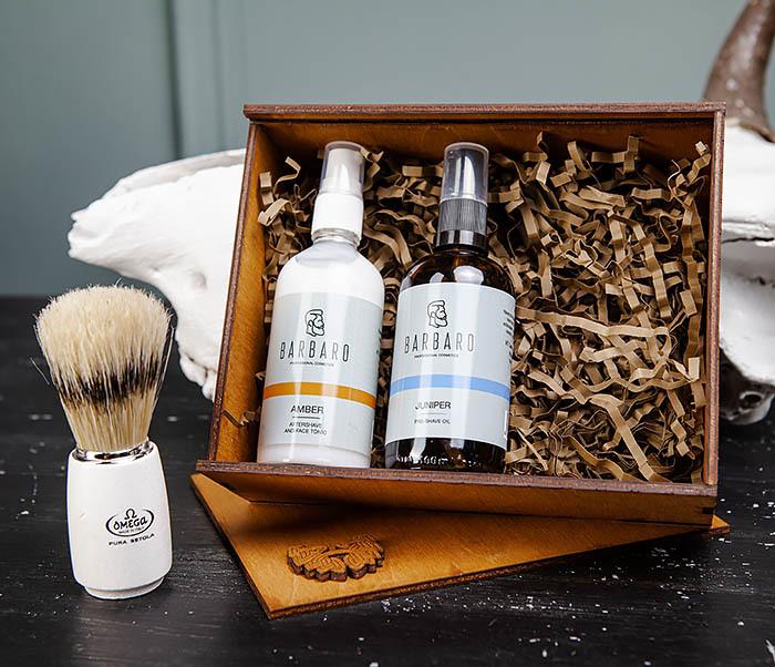 Средства для бритья: масло, бальзам после и помазок «Omega» фото 03