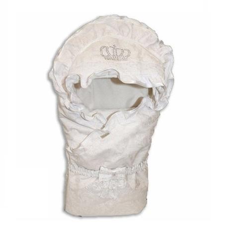 Плед-конверт для новорожденных Шедевр белый