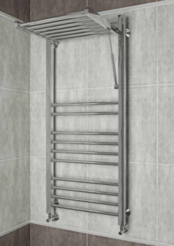 Valensia E - электрический полотенцесушитель с откидной полкой.