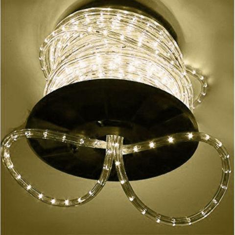 светодиодный шланг LED дюралайт бухта 100 метров теплый белый свет цвет