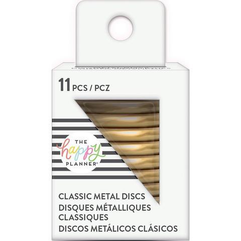 Диски металлические - (крепежный механизм для ежедневников) Happy Planner Metal Expander (Big) Discs  - Gold- 4.3 см