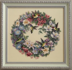 DIMENSIONS Hummingbird Wreath (Венок и колибри)
