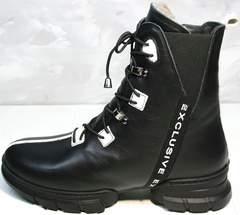 Стильные зимние ботинки женские Ripka 3481 Black-White.