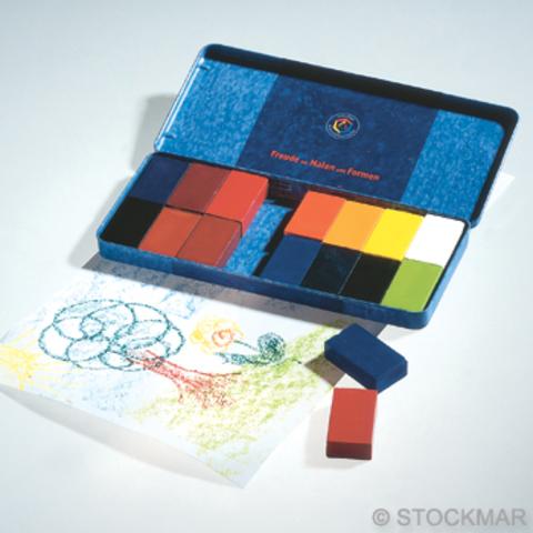 Мелки восковые блоковые 16 цветов (Stockmar)