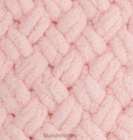 Пряжа Puffy Alize 340 Пудра - толстая бархатистая пряжа для вязания руками. Купить в интернет-магазине недорого klubokshop.ru