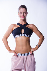 Женский топ NB crossed sports bra 622 black