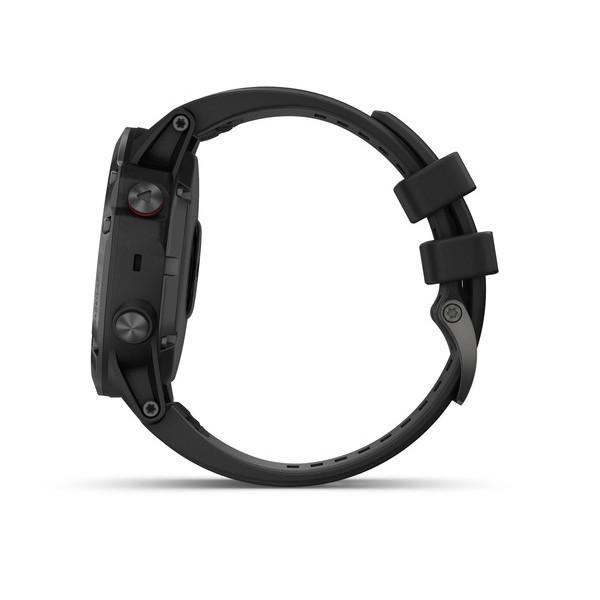 Fenix 5X Plus Sapphire черные с черным ремешком