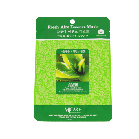 Маска тканевая алоэ Mijin Fresh Aloe Essence Mask, 23 г