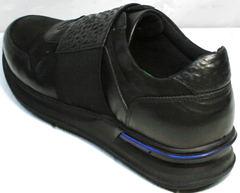 Стильные черные кроссовки мужские Luciano Bellini 1087 All Black