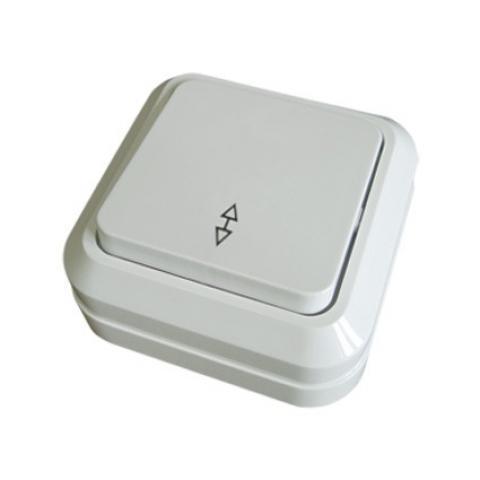 Переключатель на 2 направления 1-кл. открытой установки IP20 10А, белый