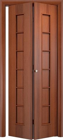 Дверь складная Верда С-12 (2 полотна), цвет итальянский орех, глухая