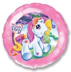 Шар F (18''/46 см) Круг Моя маленькая лошадка / My little pony, 1 шт.