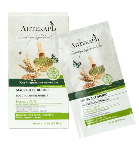 Витэкс Аптекарь Маска для волос восстанавливающая Хна + Зародыши пшеницы 10 саше