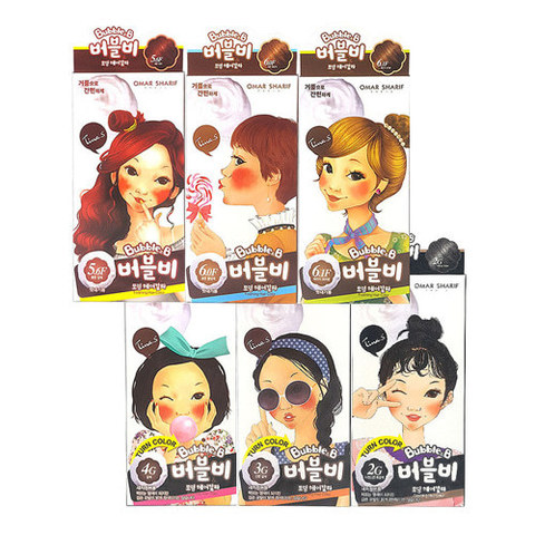 Краска для волос FASCY Bubble & B Foaming Hair Color 6color 6 цветов