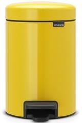 Ведро для мусора Brabantia NewIcon 3л желтая маргаритка